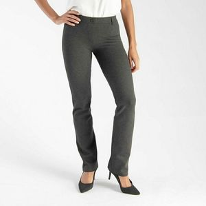 Betabrand Dress Pant Yoga Pants Straight Leg Gray